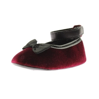 Luvable Friends Bow Velvet Flats - 12-18 mo
