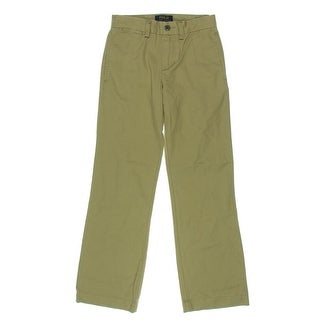Polo Ralph Lauren Boys Suffield Straight Leg Pants Solid Flat Front - 8