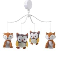 Bedtime Originals Friendly Forest Owl and Fox Musical Baby Crib Mobile