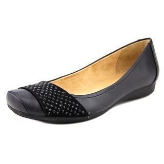 Naturalizer Vine Women W Round Toe Synthetic Black Flats