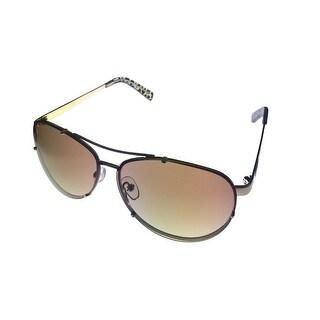 Guess Womens Sunglass Modified Metal Gold Rimless Aviator, Light Brown Lens 7197 34 - Medium