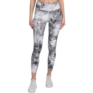DKNY Sport Womens Athletic Leggings High Waist Workout - Black - XL