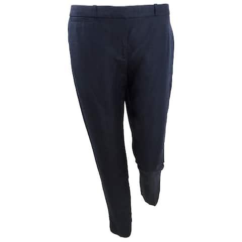 Tommy Hilfiger Women's Linen Slim-Leg Ankle Pants