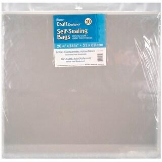 "Self-Sealing Bags 10/Pkg-20.25""X24.25"" Clear"