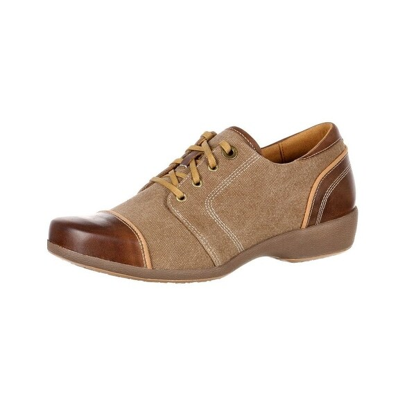 4EurSole Casual Shoes Womens Rococo Wedge Lacer Brown RKH117