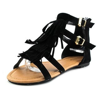 Lucky Top Liss Youth Open Toe Synthetic Black Gladiator Sandal