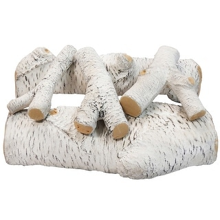 """Link to Regal Flame 16"""" Birch Ceramic Fireplace Gas Log Set - 5 Piece Similar Items in Decorative Accessories"""