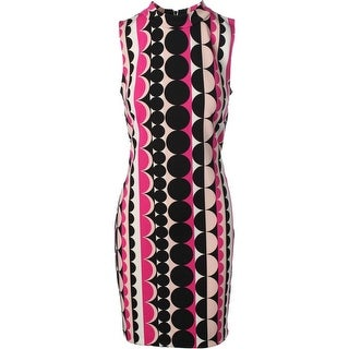 Vince Camuto Womens Printed Sleeveless Wear to Work Dress - M