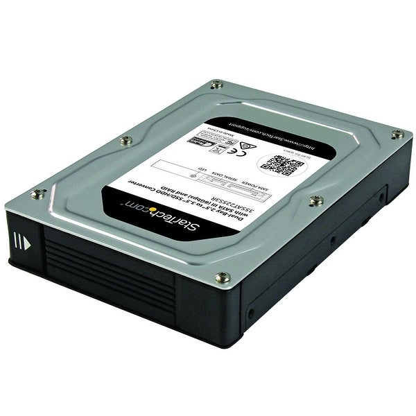 "Startech Dual, Bay 2.5""- 3.5"" Sata Hard Drive Adapter Enclosure With Raid, Jbod"