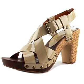 Bruno Premi Vernice   Open-Toe Patent Leather  Heels