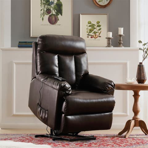 Merax PU Leather Power Recliner and Lift Chair with Remote Control