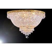 Swarovski Crystal Trimmed Chandelier Lighting French Empire Crystal  Flush Basket