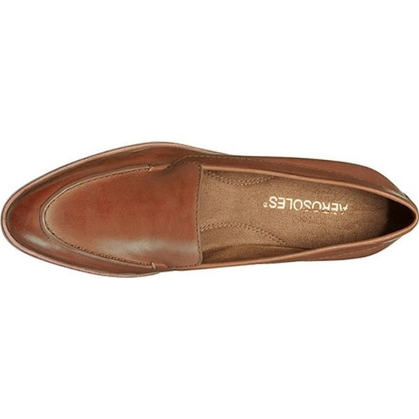 Aerosoles Women's East Side Loafer Dark Tan Leather by Aerosoles