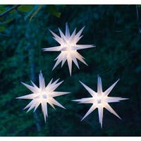 "Wintergreen Lighting 72721 Indoor / Outdoor LED Moravian Star with 60"" Lead - WHITE - N/A"