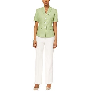 Le Suit Womens Lake Cuomo Pant Suit 2PC Embroidered