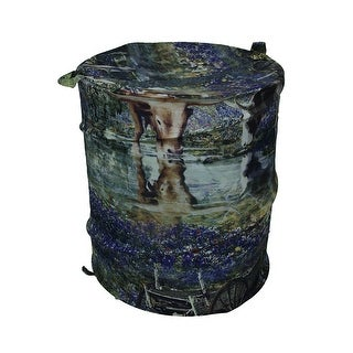 Hill Country Blues Decorative Pop-Up Laundry Hamper w/Lid