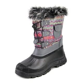 True Soft Ksnow Round Toe Canvas Snow Boot