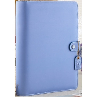 "Color Crush A5 Faux Leather Planner Kit 7.5""X10""-Periwinkle"