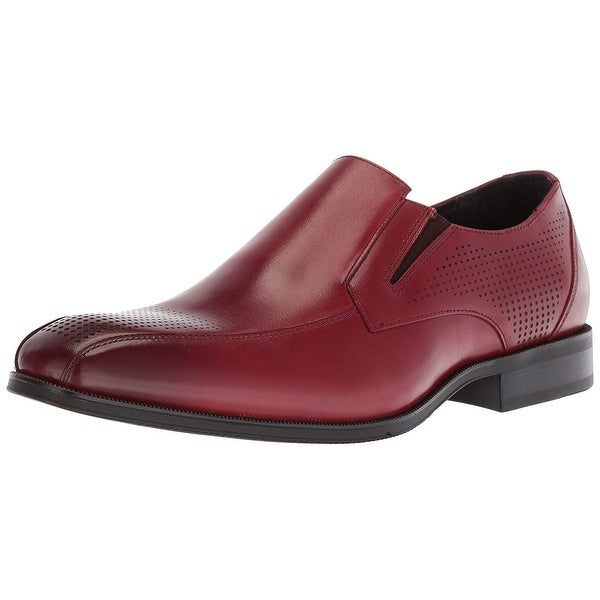 f8a387fa6a9 Shop Stacy Adams Mens 25176-231 Leather Square Toe Slip On Shoes ...