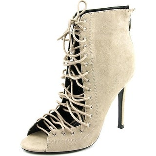 Kendall + Kylie Ginny   Open-Toe Canvas  Bootie