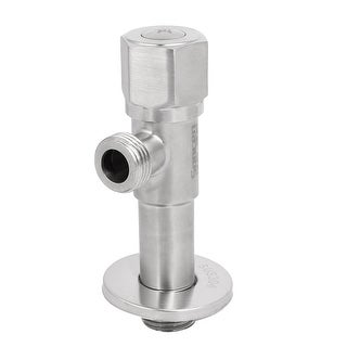 M20 Male Thread Chrome Plated 304 Stainless Steel Brass Core Angle Stop Valve