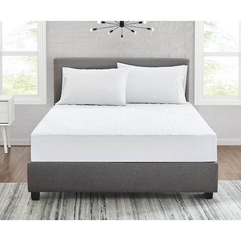 Truly Calm Silver Cool Antimicrobial Mattress Pad - White