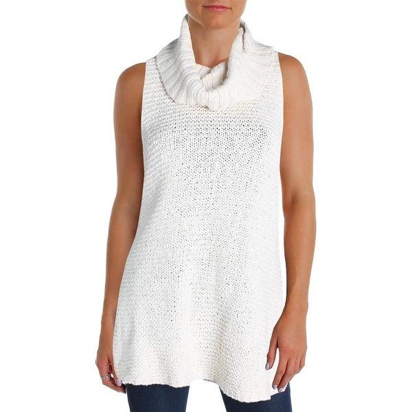 Shop Billabong Womens Pullover Sweater Cowl Neck Split Side L