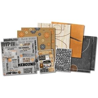 "Karen Foster Scrapbook Page Kit 12""X12""-Basketball Champ"