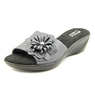 Walking Cradles Cuddle WW Open Toe Leather Wedge Sandal