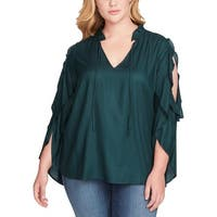 Jessica Simpson Womens Plus Bruina Blouse Ruffled Cold Shoulder - 2X