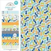 """Boy - Doodlebug Paper Plus Value Pack 12""""X12"""" 8/Pkg"""