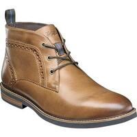 Nunn Bush Men's Ozark Plain Toe Chukka Boot Tan Chamois Leather