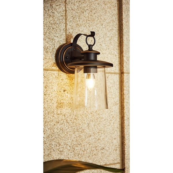 """1-Light Outdoor Wall Sconce - 6.62""""x8.3""""x12"""". Opens flyout."""