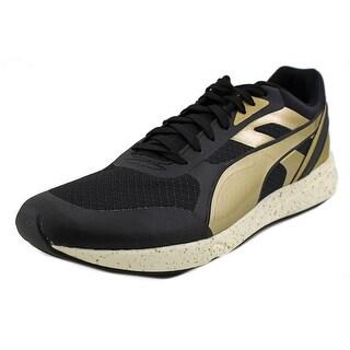 Puma 698 Ignite Metallic Men Round Toe Synthetic Black Running Shoe