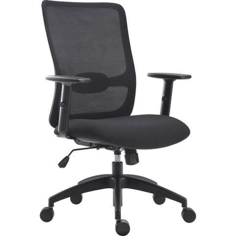 Lorell SOHO Collection Lifting Armrest Staff Chair