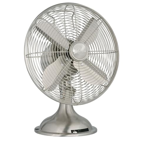 "Hunter Home Comfort 9040 12"" 1250 CFM 3 Speed Retro Style Table Top Fan"