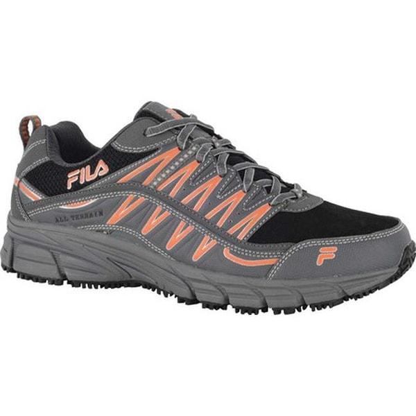 new styles bead6 f1b93 Fila Men  x27 s Memory Primeforce Slip-Resistant Trail Runner Castlerock  Black
