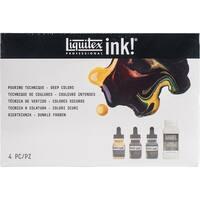 Liquitex Pouring Technique Set 4 Pieces-Deep Colors