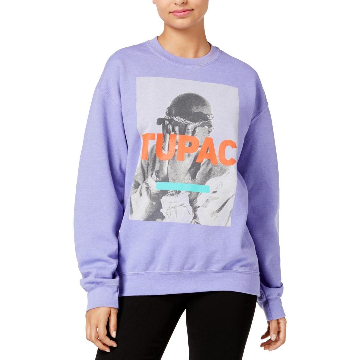 Material Girl Juniors Striped Graphic Sweatshirt
