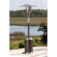 Well Traveled 61185 Commercial Patio Heater - Mocha and Stainless Steel