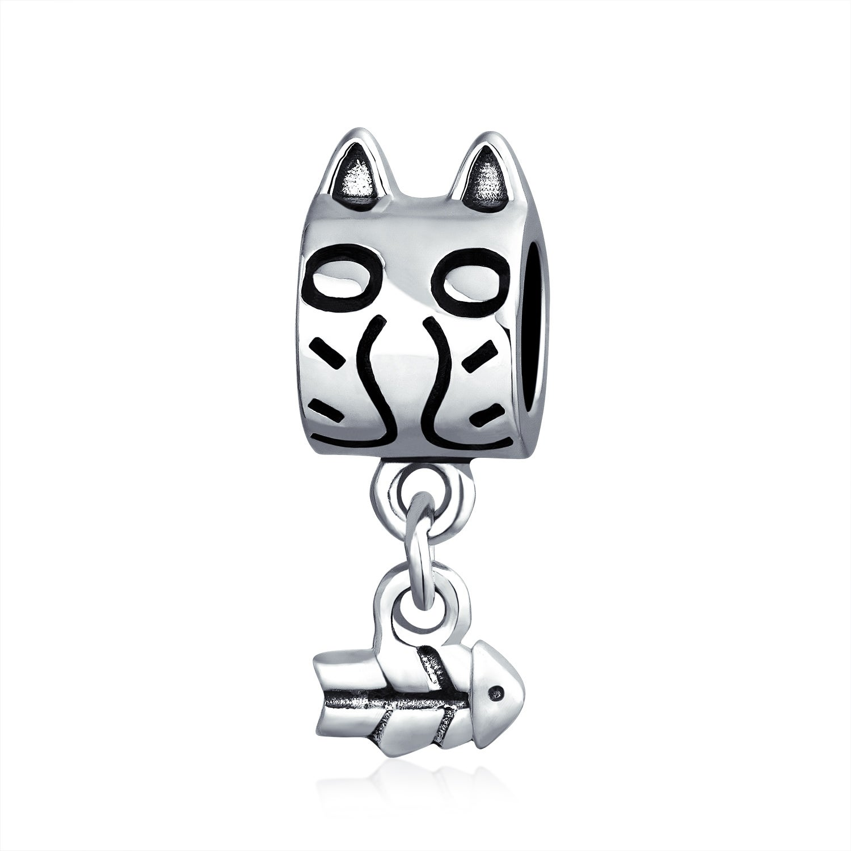 I Love My Cat Heart Pet Animal Dangle Charm Beads Fit European Style Bracelet