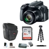 Canon PowerShot SX60  Digital Camera with 32GB Memory Card and Accessory Bundle