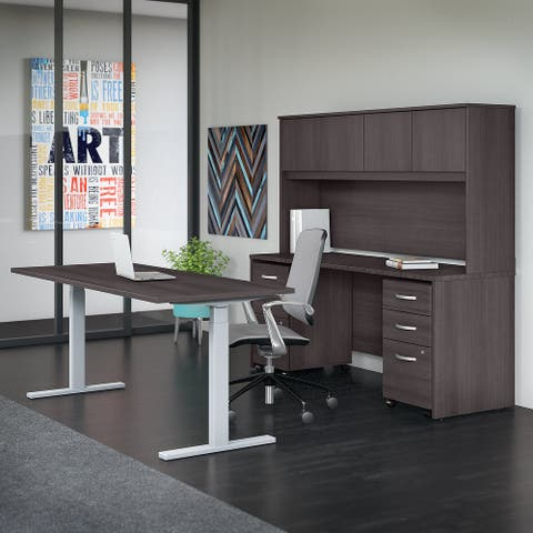 Studio C 72W Height Adjustable Desk Set by Bush Business Furniture
