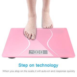 Link to LEADZM 180Kg Slim Waist Pattern Personal Scale Black/Pink Similar Items in Weight Management