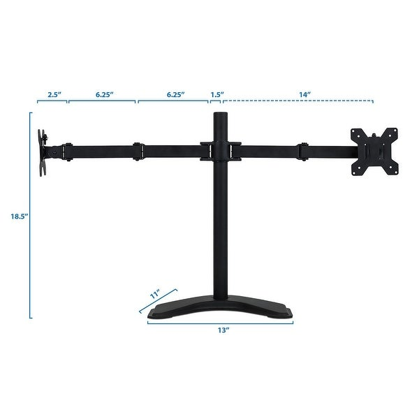 """Desktop Dual Monitor Mount Arm Desk Table Stand For 2 LCD Fully Swivel 13-27/"""""""