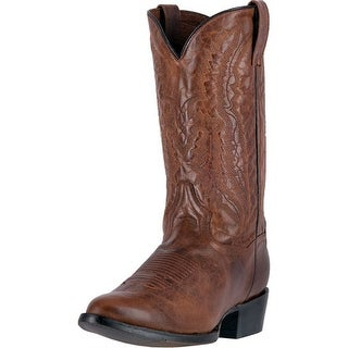 "Dan Post Western Boots Mens 12"" Cash R Toe Orthotic Cognac DP2407"