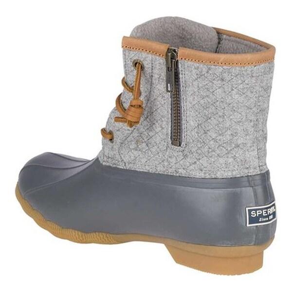 Saltwater Duck Boot Dark Grey Wool
