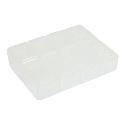 Unique Bargains Clear Hard Plastic Storage Case Box for Fishing Hook