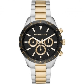 Link to Michael Kors Woman's Layton Chronograph Two-Tone Stainless Steel Watch Similar Items in Women's Watches