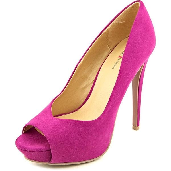 Famous Name Brand Damara Open Toe Synthetic Platform Heel